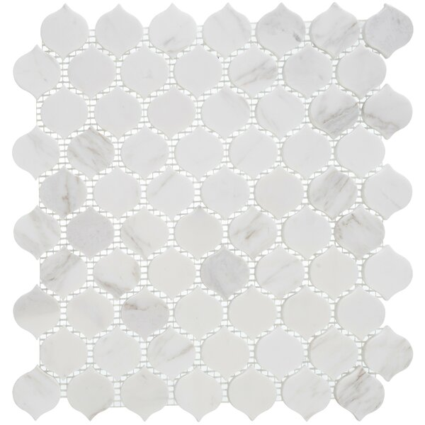 Dayberry 1.5 x 1.5 Marble Arabesque Wall & Floor Mosaic Tile
