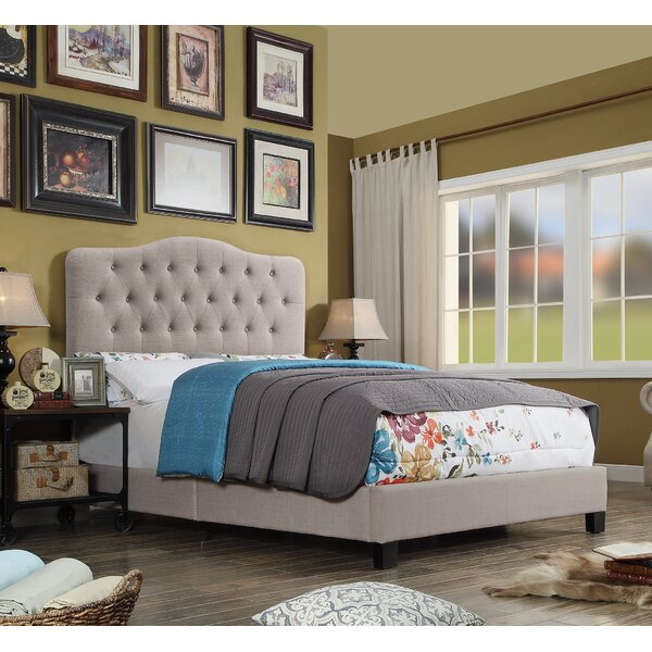 Harriman Upholstered Standard Bed Charlton Home W001496581