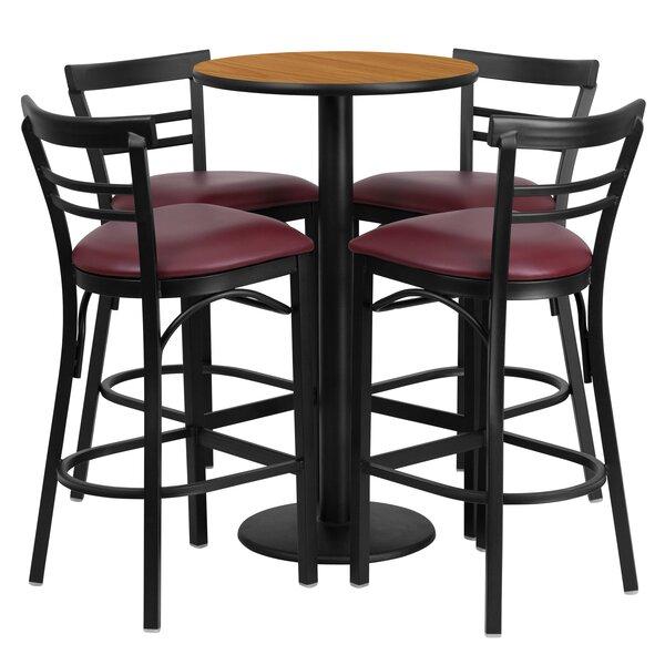Chirag 5 Piece Pub Table Set