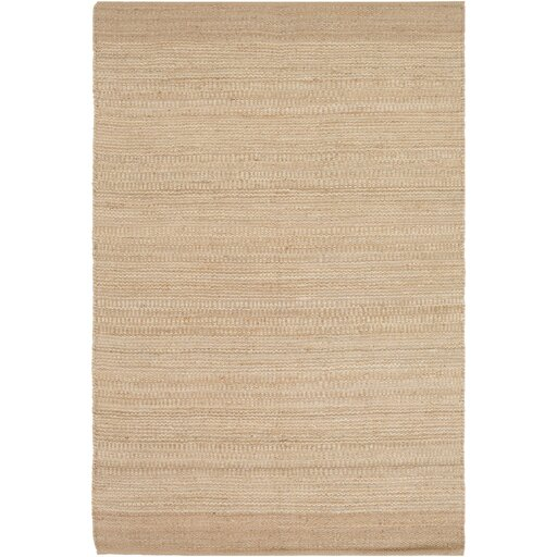 Boughner Hand-Woven Cream/Khaki Area Rug by Three Posts