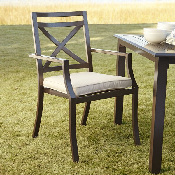 Endicott Stacking Patio Dining Chair with Cushion