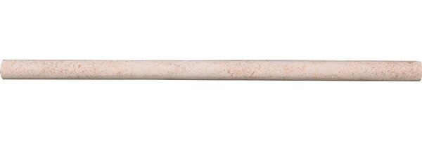 12 x 5/8 Limestone Bullnose Tile Trim in Sable (Set of 5) by The Bella Collection