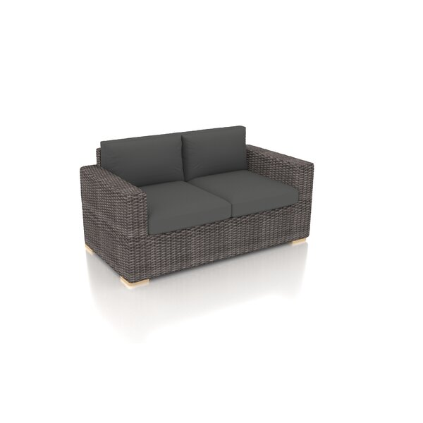 Holcomb Loveseat with Sunbrella Cushions by Rosecliff Heights
