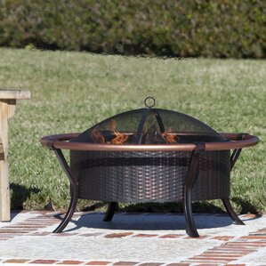 Attractive Rail Steel Wood Burning Fire Pit