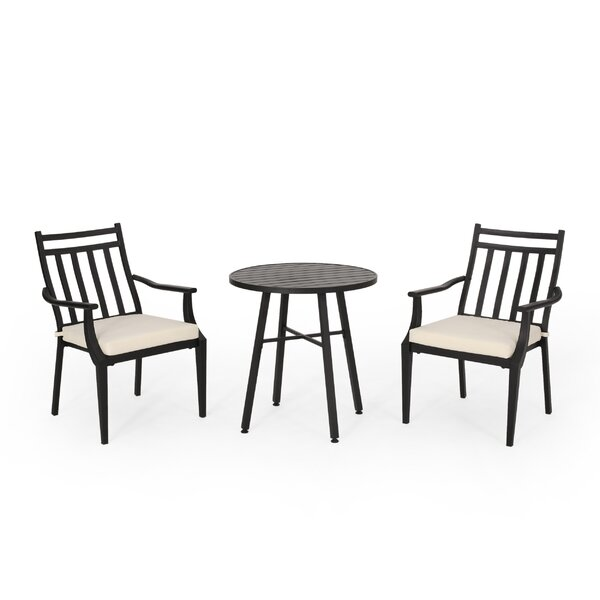 Johnstown 3 Piece Bistro Set with Cushions by Gracie Oaks