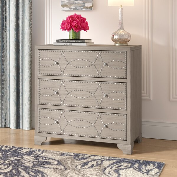 Candice Nail Head 3 Drawers Accent Chest by House of Hampton