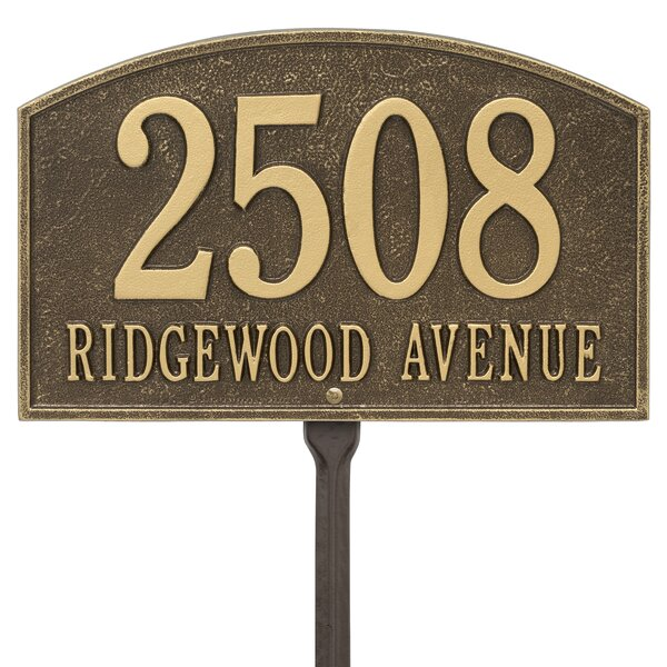 Legacy 2 Line Lawn Address Sign By Old Century Forge.
