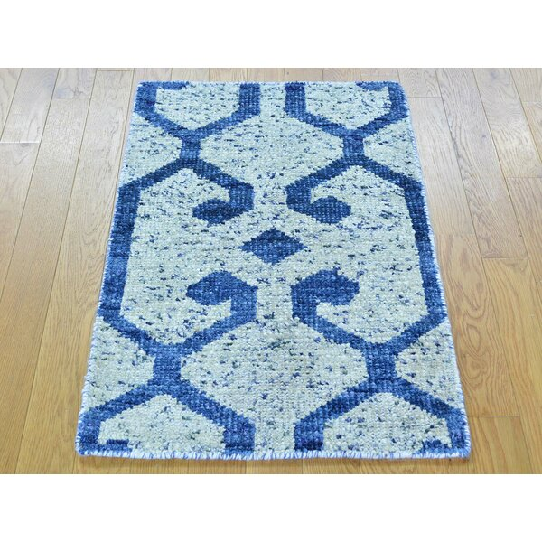 One-of-a-Kind Beatrix Hand-Knotted Ivory Silk Area Rug by Isabelline