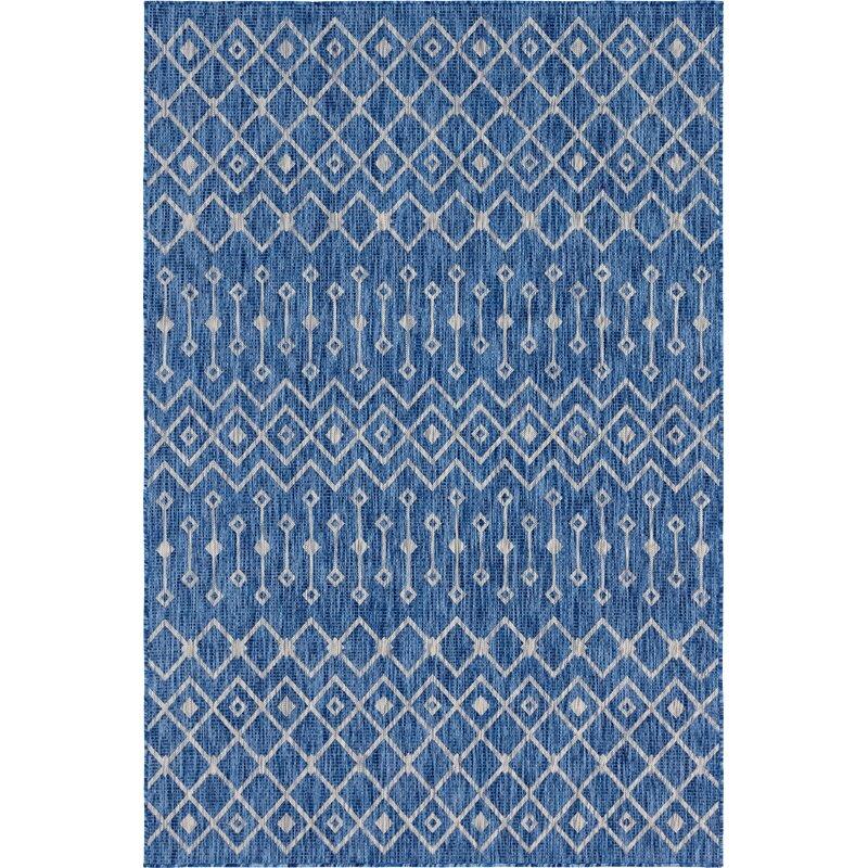 Gracie Oaks Brylee Blue Beige Indoor
