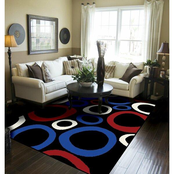 Yablonski Black Indoor/Outdoor Area Rug by Ebern Designs