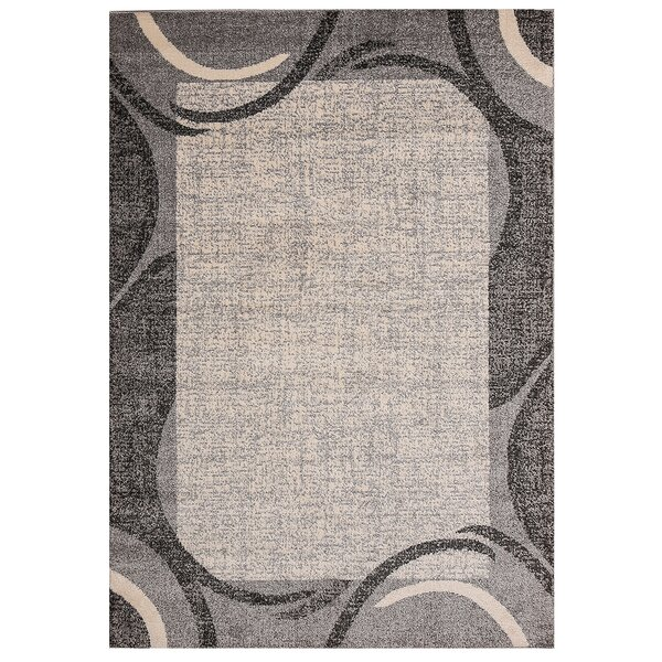 Fennel Cheetham Border Design Gray Rug