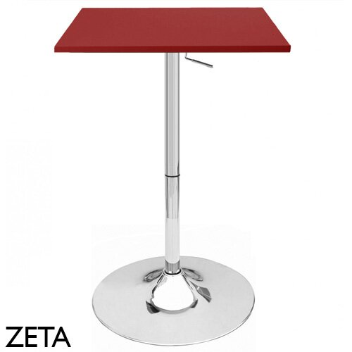 Zeta Adjustable Height Pub Table by Vandue Corporation