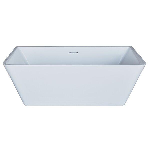 Azurel 66.88 x 31.38 Rectangle Acrylic Freestanding Bathtub by Spa Escapes