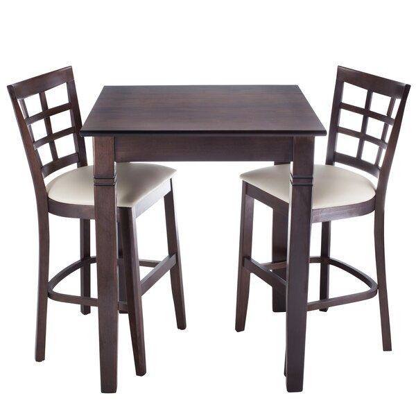 Harner 3 Piece Counter Height Pub Table Set by August Grove August Grove