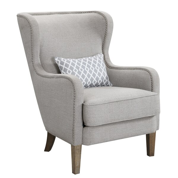 Becker Upholstered Wingback Chair by Charlton Home