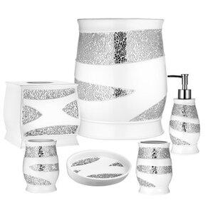 Bathroom Accessories White resin bathroom accessories you'll love   wayfair