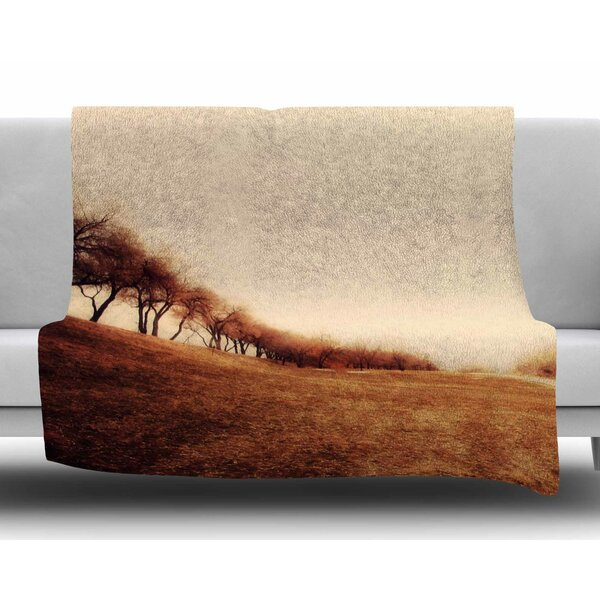 Minimalist Autumn Landscape by Sylvia Coomes Fleece Blanket by East Urban Home
