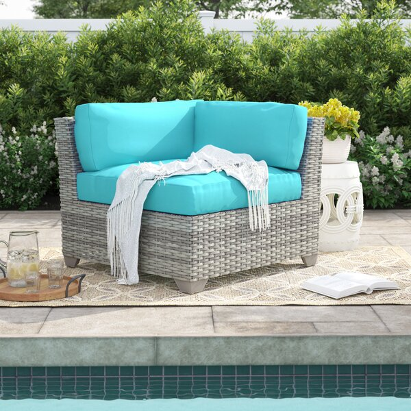 Falmouth Corner Patio Chair with Cushions (Set of 2) by Sol 72 Outdoor