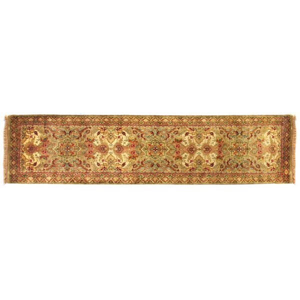 European Polonaise Hand-Knotted Wool Beige/Peach Area Rug by Exquisite Rugs