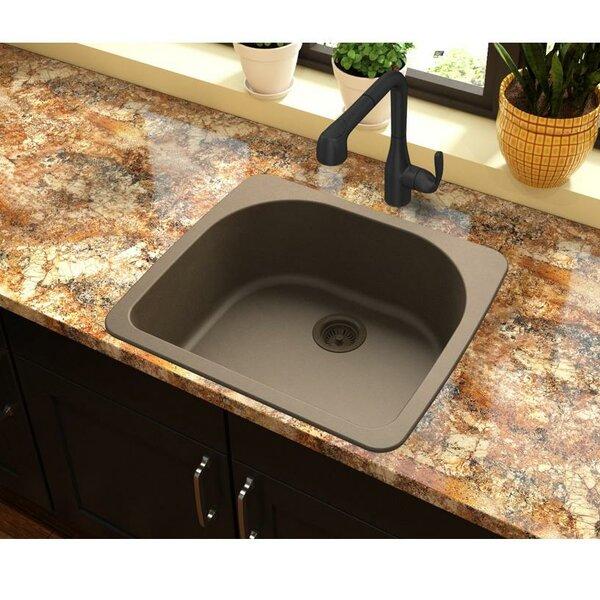 Quartz Classic 25 L x 22 W Drop-In Kitchen Sink by Elkay