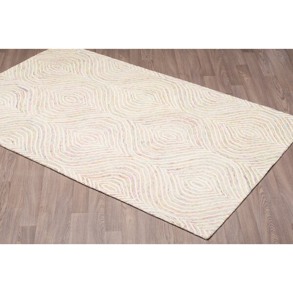 Quinney Hand-Woven Ivory Wool Area Rug by Bungalow Rose