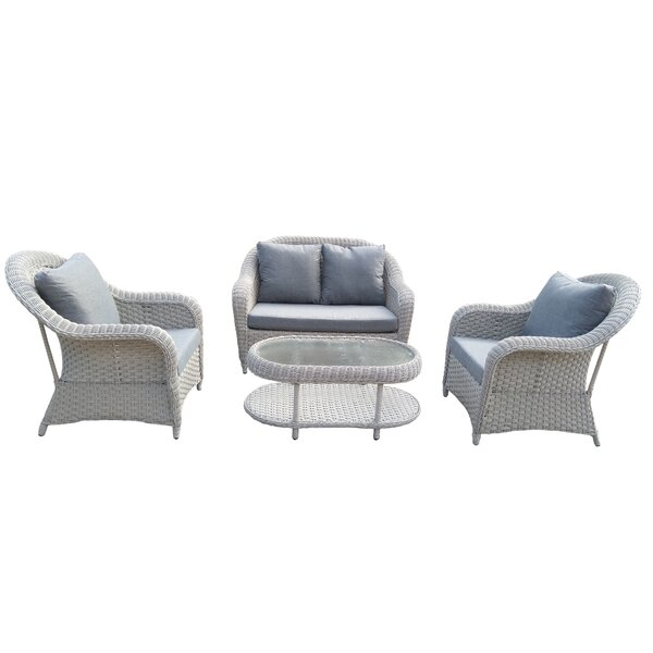 Glessite 4 Piece Sofa Seating Group with Cushions by Charlton Home
