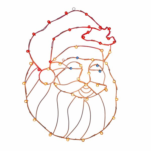 Silhouettes Santa Head C7 Wire Motif by Vickerman
