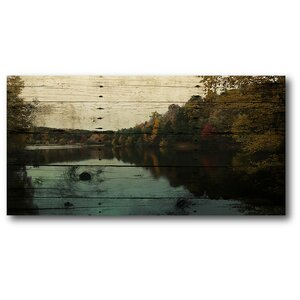 At the Lake Photographic Print on Wrapped Canvas by Courtside Market