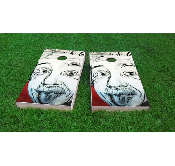 Artistic Einstein Cornhole Game Set by Custom Cornhole Boards