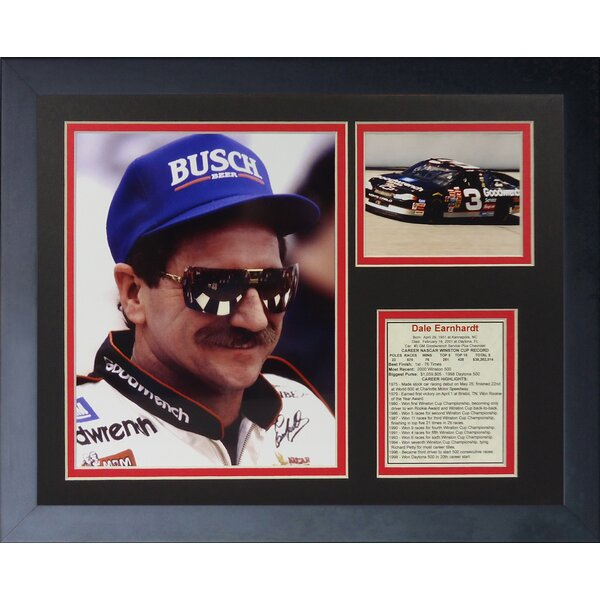 Dale Earnhardt Sr. - Busch Portrait Framed Memorabilia by Legends Never Die