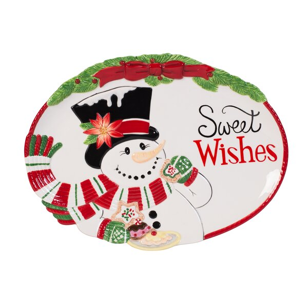 Top Hat Frosty Cookie Platter by Fitz and Floyd