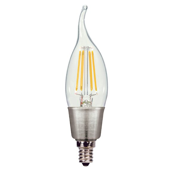 E12 Candelabra LED Vintage Filament Light Bulb by Satco