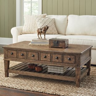 Find the perfect Lesley Coffee Table with Drawers ByAlcott Hill