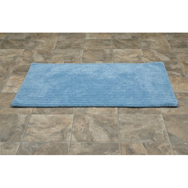 Lucille Rectangle Nylon Non-Slip Striped Bath Rug