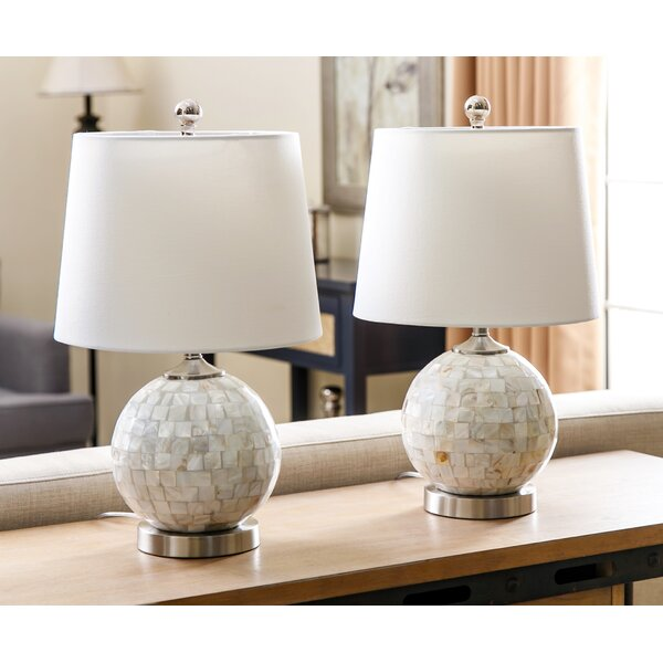 Linwood 19 Table Lamp (Set of 2) by Rosecliff Heights