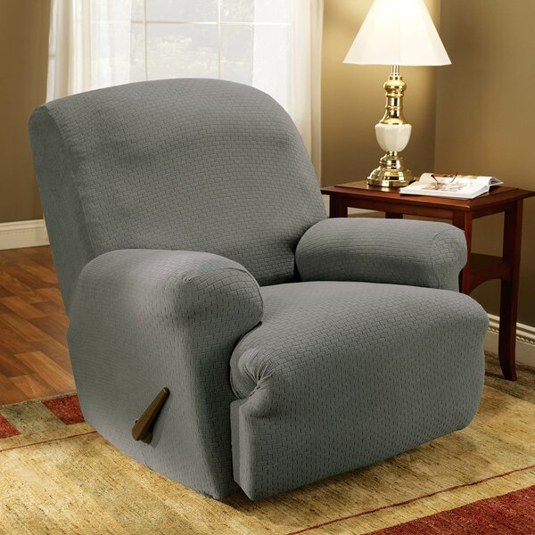 Simple Stretch Subway T-Cushion Recliner Slipcover By Sure Fit Sure Fit