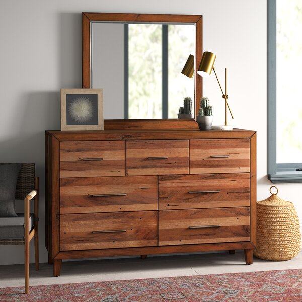 Tarin 7 Drawer Dresser with Mirror by Mistana