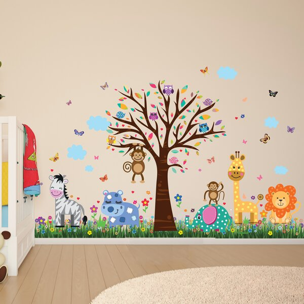 Howland Zoo and Butterflies Grass Wall Decal by Zoomie Kids
