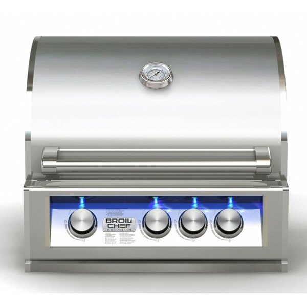BroilChef 4 Built-In Liquid Propane Gas Grill by BroilChef
