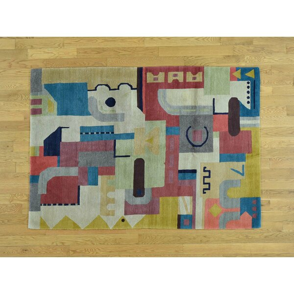 One-of-a-Kind Beverly Abstract Design Handwoven Wool Area Rug by Isabelline