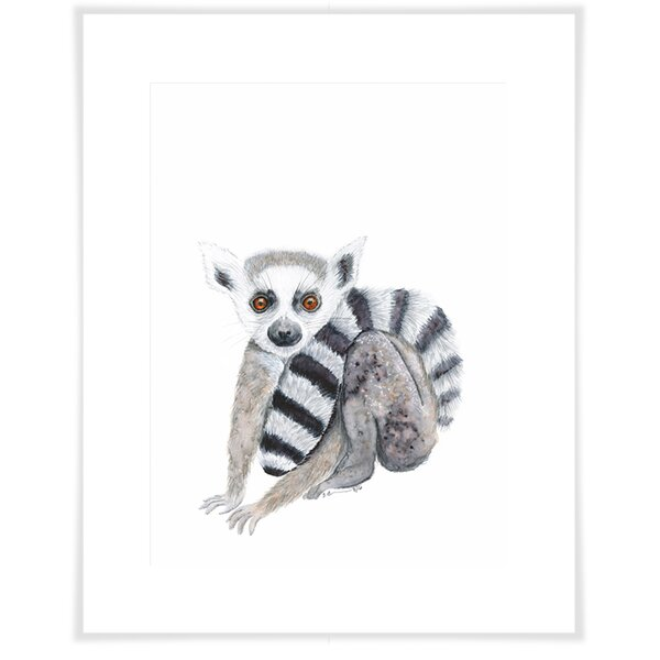 Augusta Lemur Portrait Paper Print by Harriet Bee