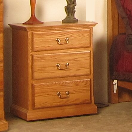 Lacluta 3 Drawer Nightstand by Loon Peak