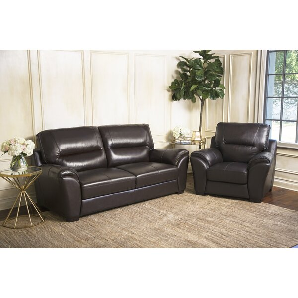 Schweizer 2 Piece Leather Living Room Set by Darby Home Co