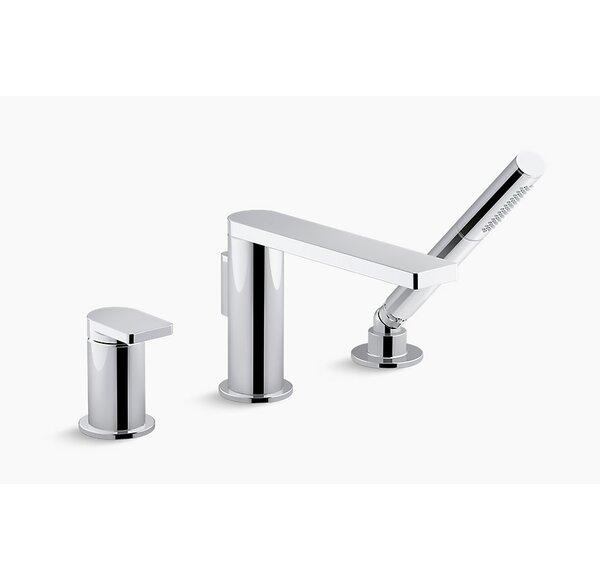 Composed Single Handle Deck Mounted Roman Tub Faucet with Diverter and Handshower by Kohler Kohler