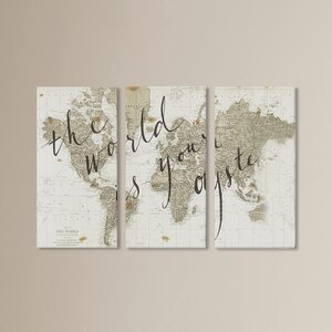 'The World Is Your Oyster' Graphic Art Print Multi-Piece Image on Canvas by Mercer41