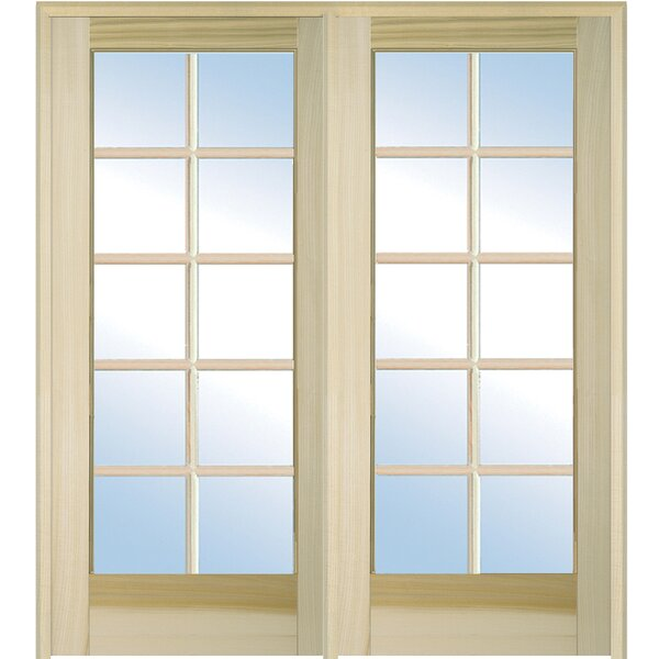 Wood 2-Panel Natural Interior French Door by Verona Home Design
