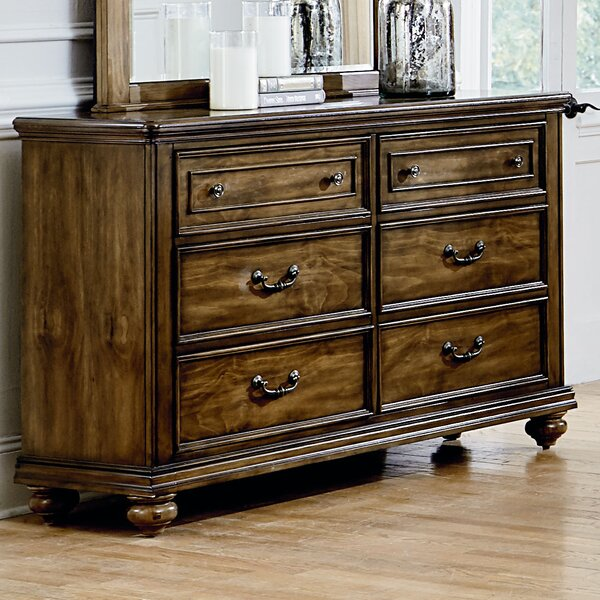 Thach Traditional 6 Drawer Double Dresser by Charlton Home
