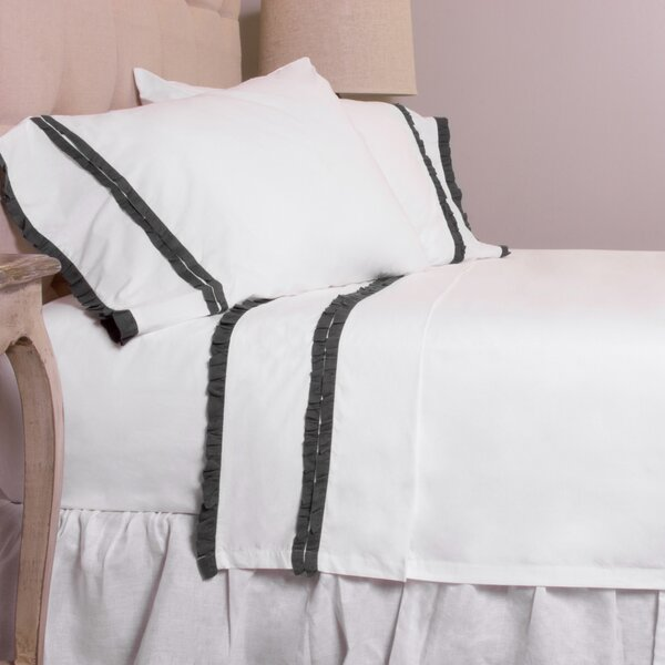 Dainty Ruffle Cotton Sheet Set by Amity Home