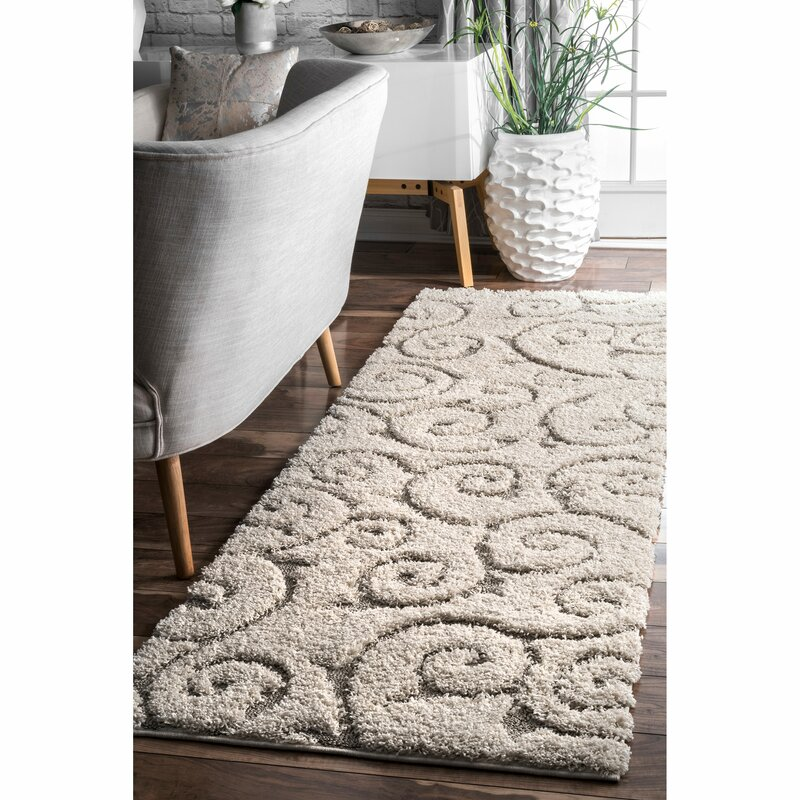 Pipers Ivory Vine Swirls Area Rug