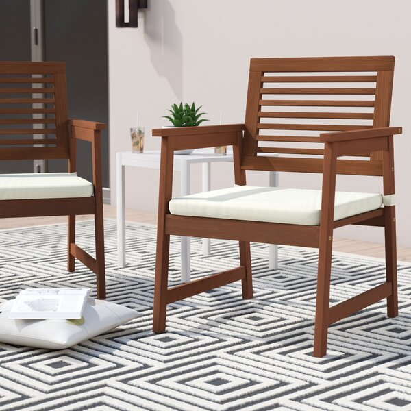 Arianna Patio Chair with Cushions (Set of 2) by Langley Street